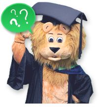 A Graduated Lion with questions in mind