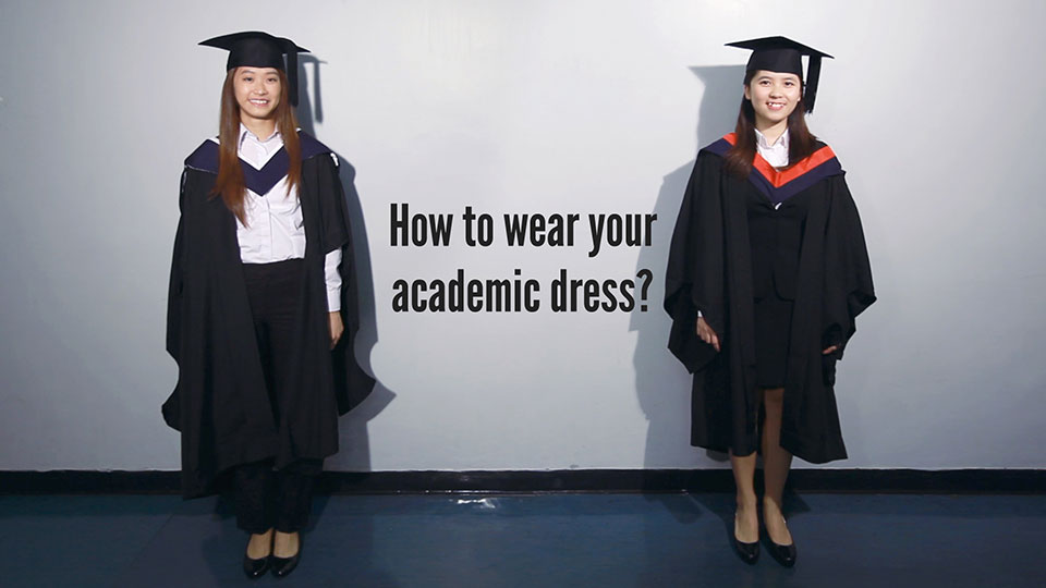 Suggested Attire - Academic Dress - HKU - Ordinary Degrees Congregation