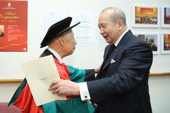 Warmest congratulations from Dr the Honourable Sir David Li, Pro-Chancellor of the University