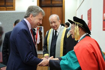 Warmest congratulations from Professor Peter Mathieson, President of the University