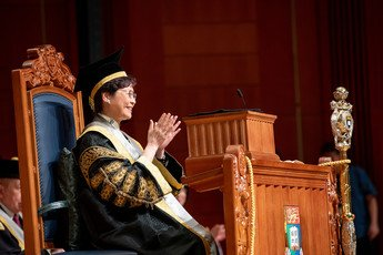 The Chancellor of the University, The Honourable Mrs Carrie LAM presides over the Congregation