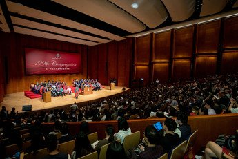 The 199th Congregation takes place at the Grand Hall, HKU